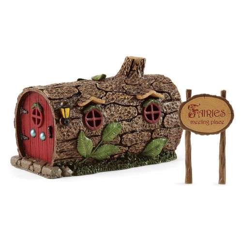 Enchanted Guardians Medium Log Fairy Garden House